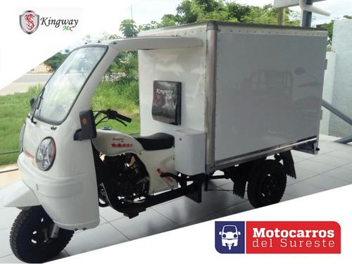 motocarro kingway mx 2018  caja seca a 12 meses