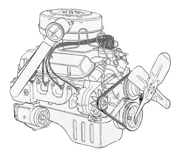 Motor Ford Mustang V8