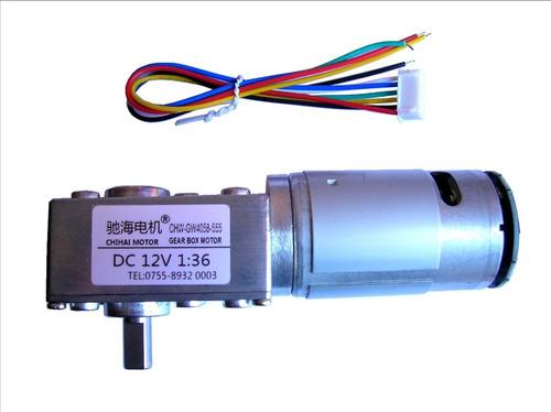 motor motorreductor 12v alto torque 1:36 encoder gw4058-555