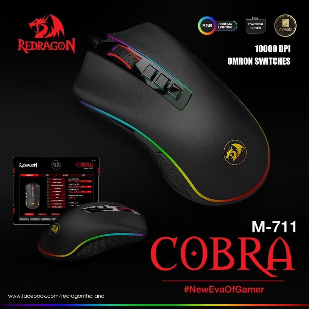 06fe114d1da Mouse Gamer Usb Redragon Cobra Chroma M711 Iluminado Rgb - U$S 34,98 ...