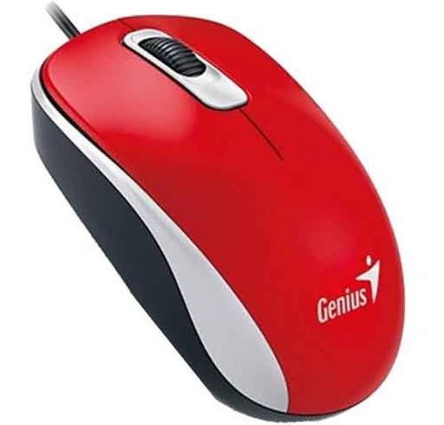 mouse genius dx-110 usb rojo para pc o notebooks oferta