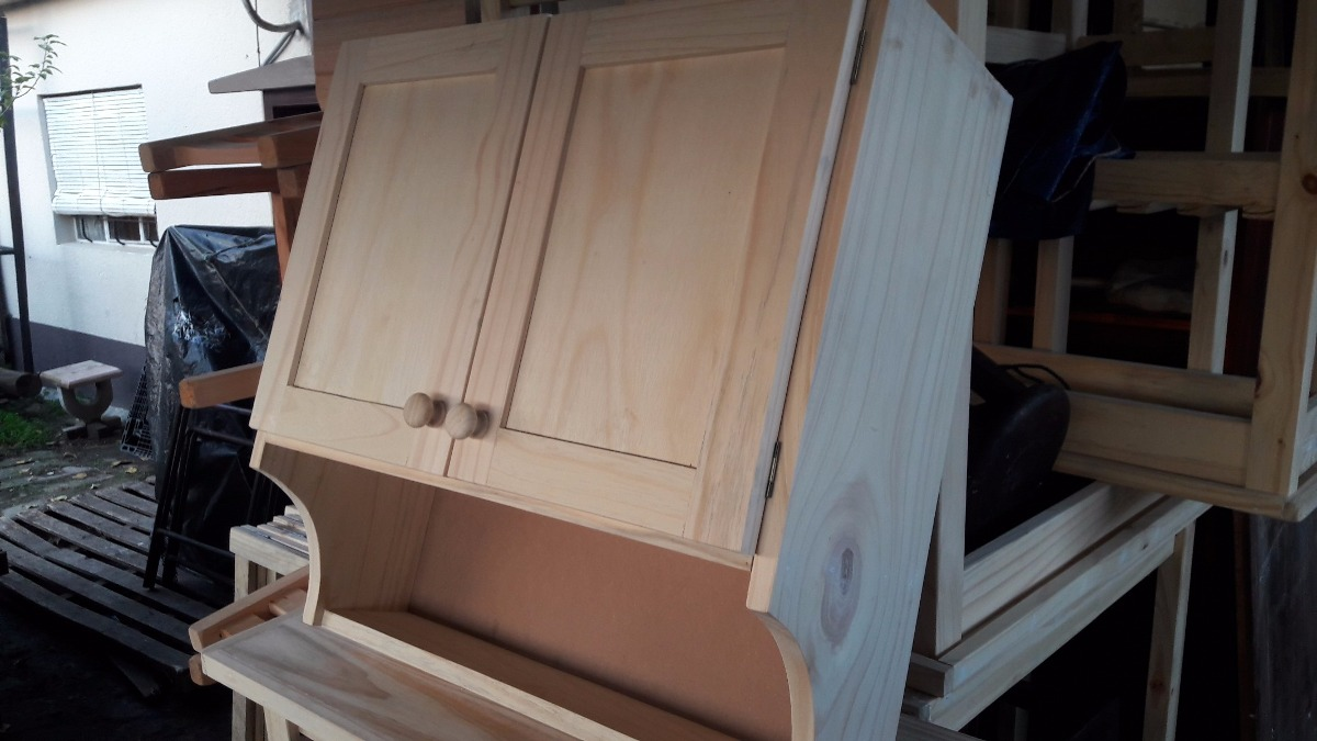 Mueble aereo cocina madera maciza en mercado for Mueble aereo cocina uruguay