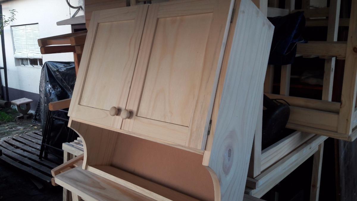 Mueble aereo cocina madera maciza en mercado for Muebles madera maciza uruguay