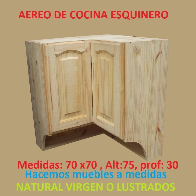 Mueble aereo esquinero de cocina de madera maciza 3 - Mueble esquinero cocina ...