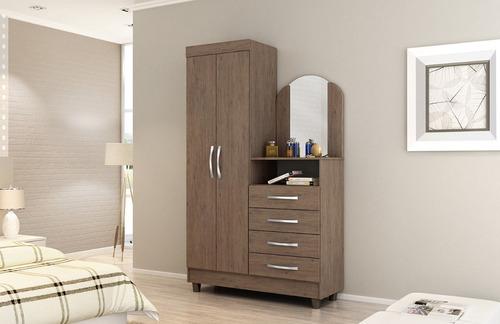 mueble armario con comoda cajonera tocador blanco mobelstore