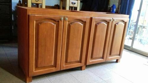 Mueble Bajo Mesada Para Cocina En Madera Maciza Rústica - $ 22.800 ...