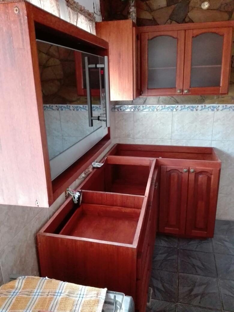 Mueble Bajo Mesada Para Cocina O Barbacoa En Madera Rustica ...