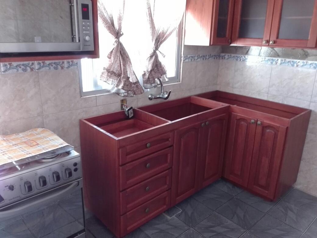 Mueble bajo mesada para cocina o barbacoa en madera - Muebles de cocina madera ...