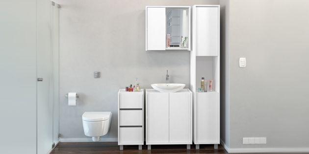 Mueble ba o alto 2 puertas 5 estantes blanco opcion d wo en mercado libre - Mueble alto bano ...