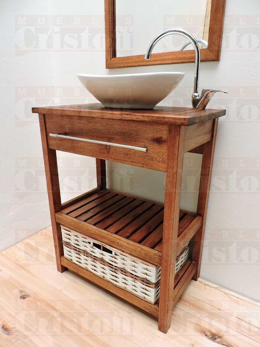 Mueble ba o madera maciza en mercado libre for Muebles madera maciza uruguay