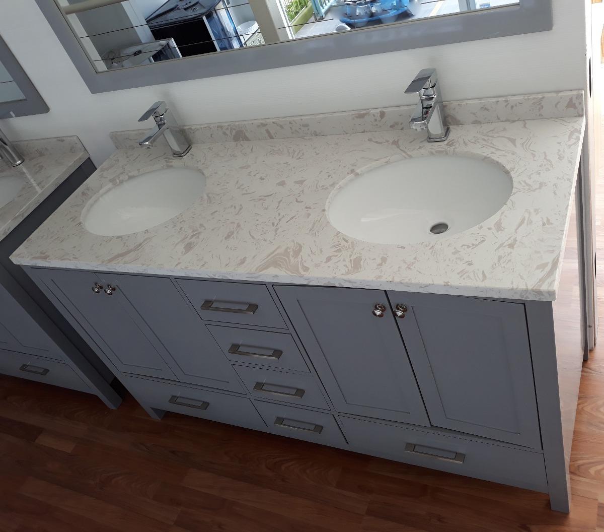 adc34cd3a Mueble Baño Mod 2030 - 150x57- Mesada De Marmol 2 Bachas - U$S 1.380 ...