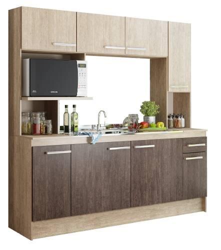 Mueble Cocina Compacta Con Mesada + Pileta Acero Inoxidable ...