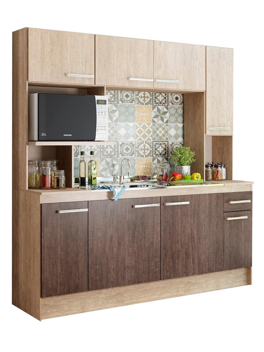 Mueble Cocina Compacta + Mesada + Pileta Acero Incluida Lg - $ 6.590 ...
