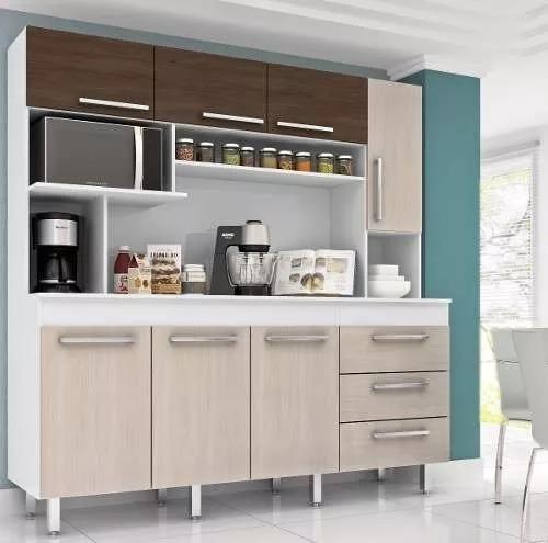 Mueble Cocina Kit Multiuso 7 Puertas Cajones 315 Sin Tapa