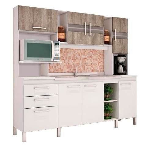mueble cocina kit multiuso microondas 7 puertas com080