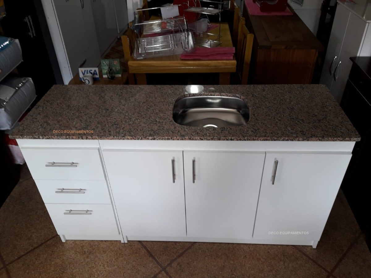 Mueble Cocina Mdf Bajo Mesada 88 Altura Y 160 Largo