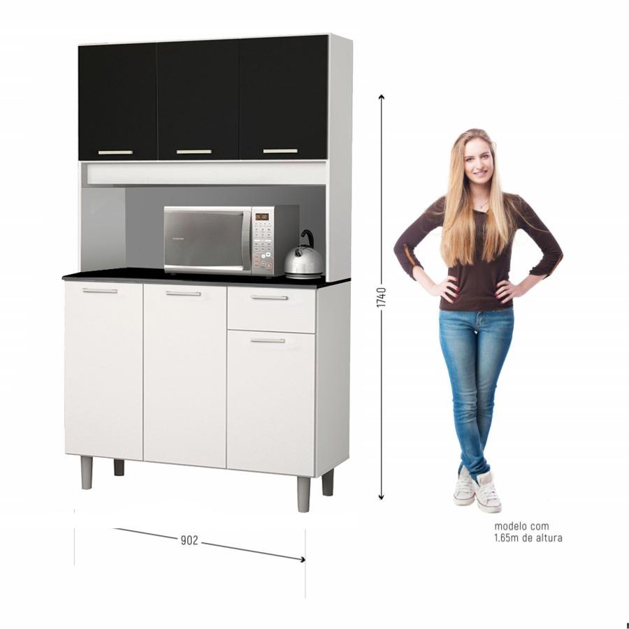 Mueble Cocina Modular 6 Puertas - Black Dog