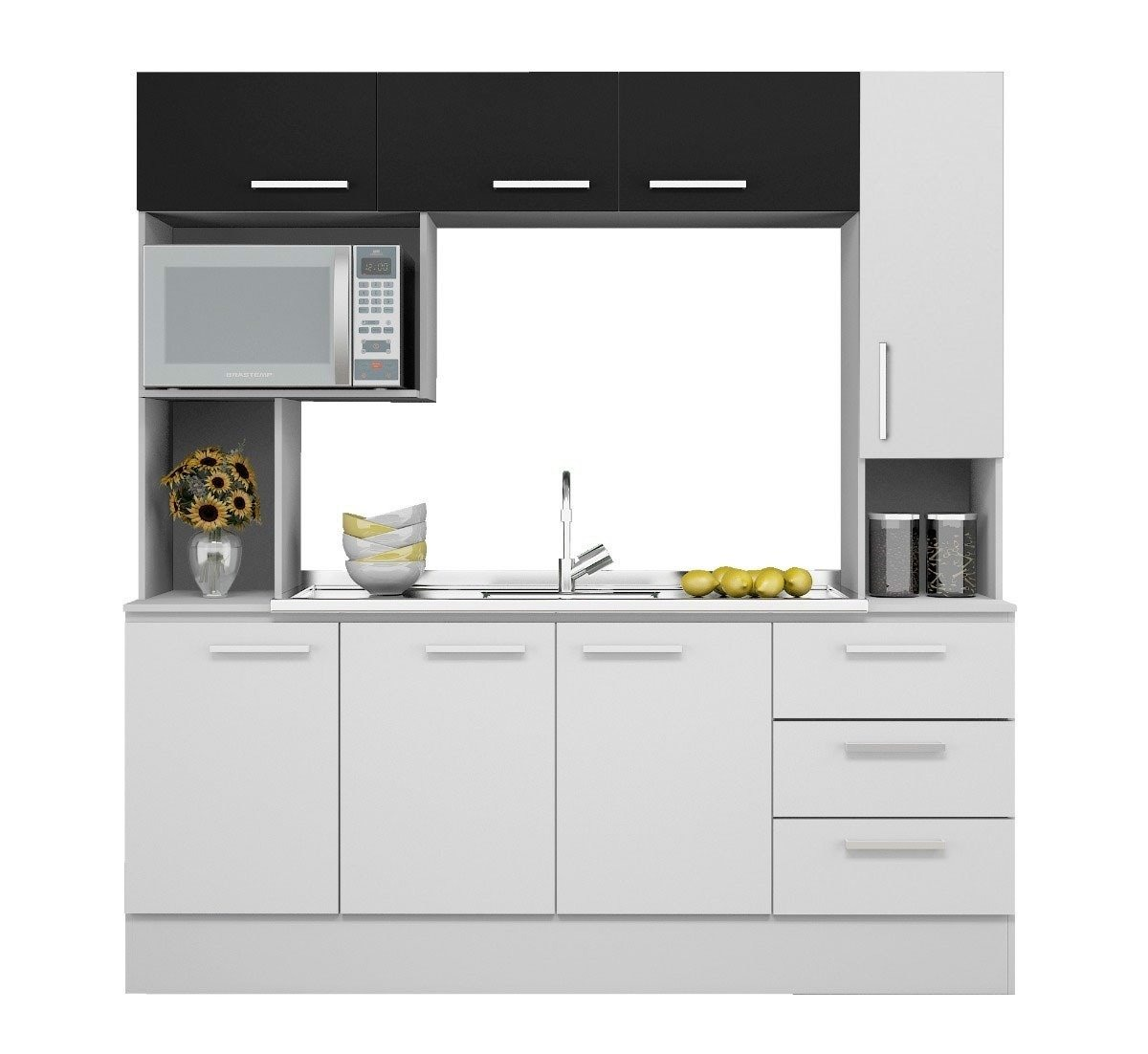 Mueble Cocina Napoles + Pileta Acero Inoxidable Ventas1002 - $ 7.390 ...
