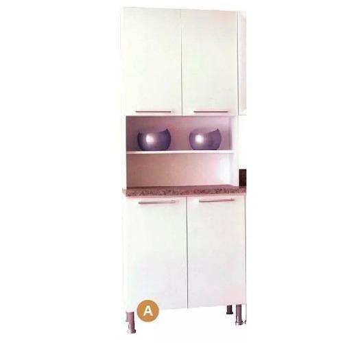 mueble cocina panelero kit doble 4 puertas blanco cd301