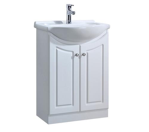mueble de baño color blanco 60 cm dos puertas