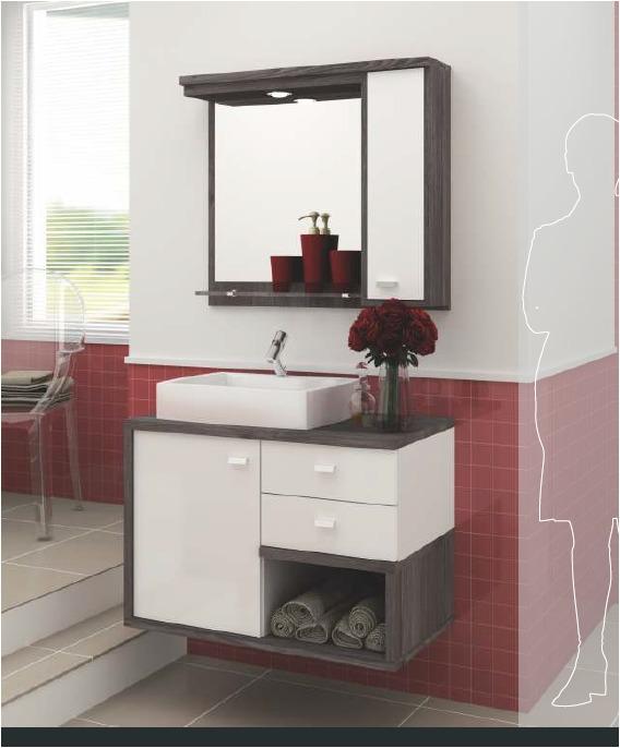 Mueble de ba o con botiquin espejo y bacha u s 500 00 en for Espejos decorativos modernos bogota