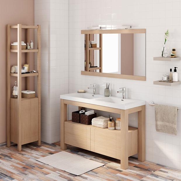 Mueble de ba o en madera eucaliptus en for Mueble de bano de diseno de madera