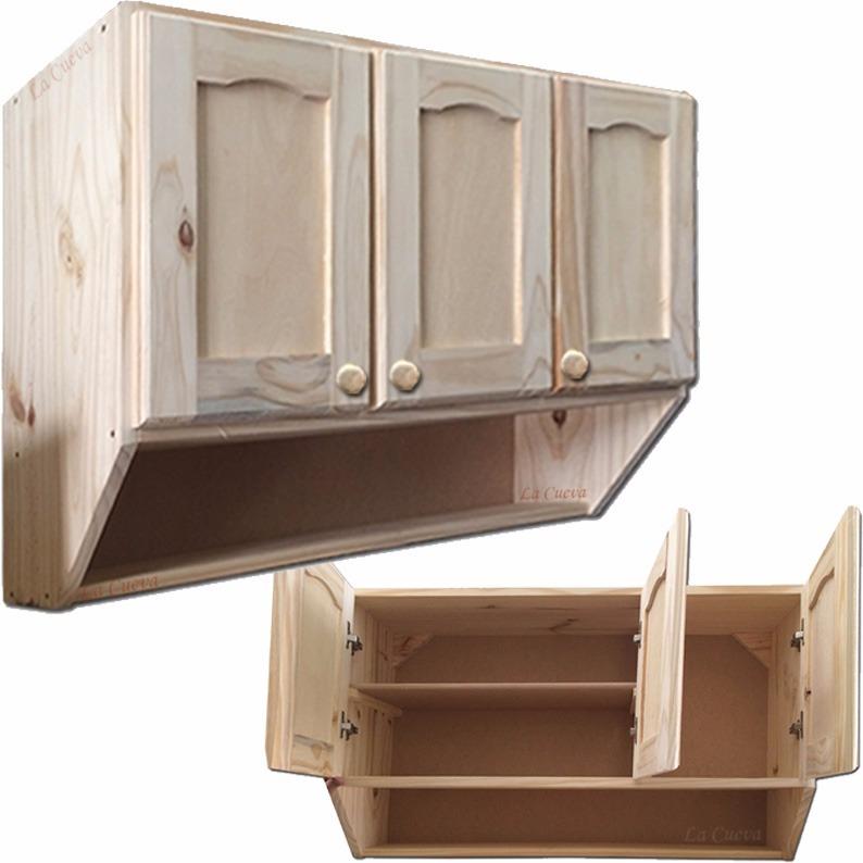 Mueble de cocina aereo 3 puertas alacena madera lcm for Muebles de madera para cocina pequena