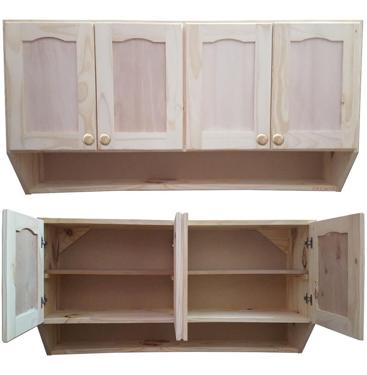 Mueble De Cocina - Aereo 4 Puertas - Alacena - Madera -lcm