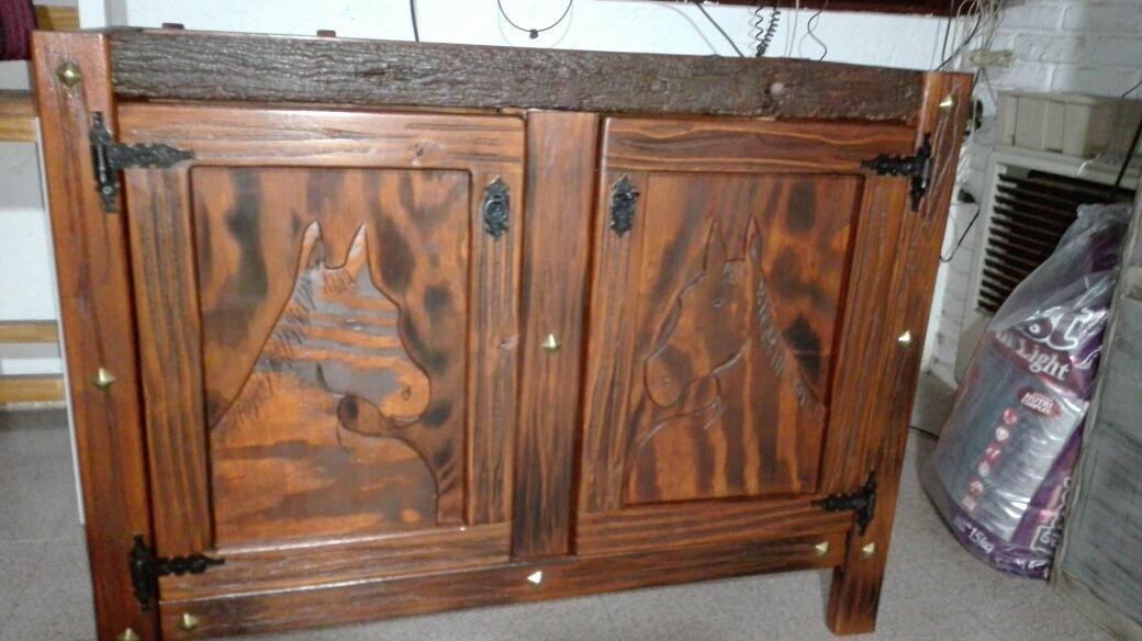 Mueble De Cocina En Madera Rustica - $ 9.900,00 en Mercado Libre