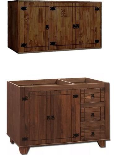 mueble de cocina madera n- aereo alacena - bajo mesada - lcm