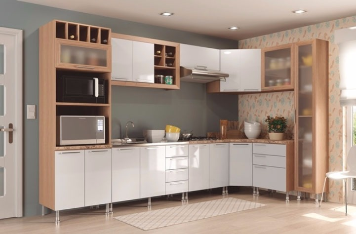 Mueble De Cocina Premium- Aereo - 2 Puertas - Esquinero -lcm ...