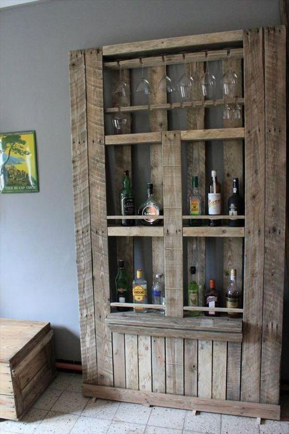 Mueble De Cocina Rústico Palet - $ 7.500,00 en Mercado Libre