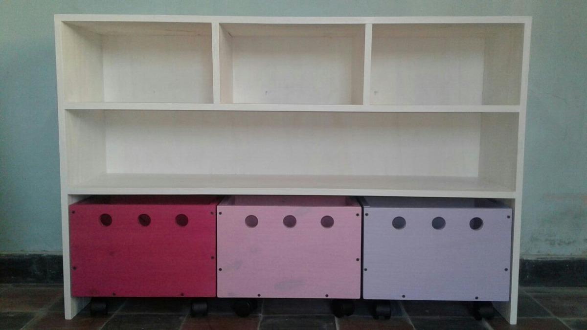 Mueble de madera maciza para ordenar juguetes for Muebles madera maciza uruguay