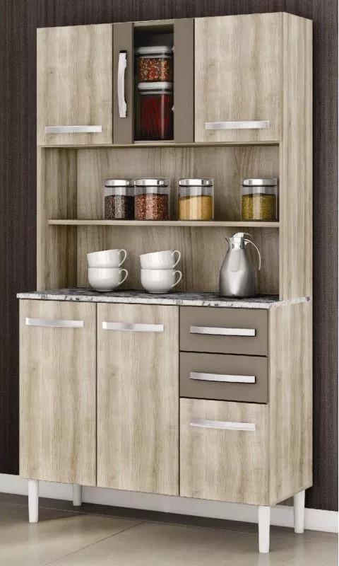 Mueble Kit Cocina 5 Puerta 3 Cajones Alacena Modular - $ 2.690,00 en ...