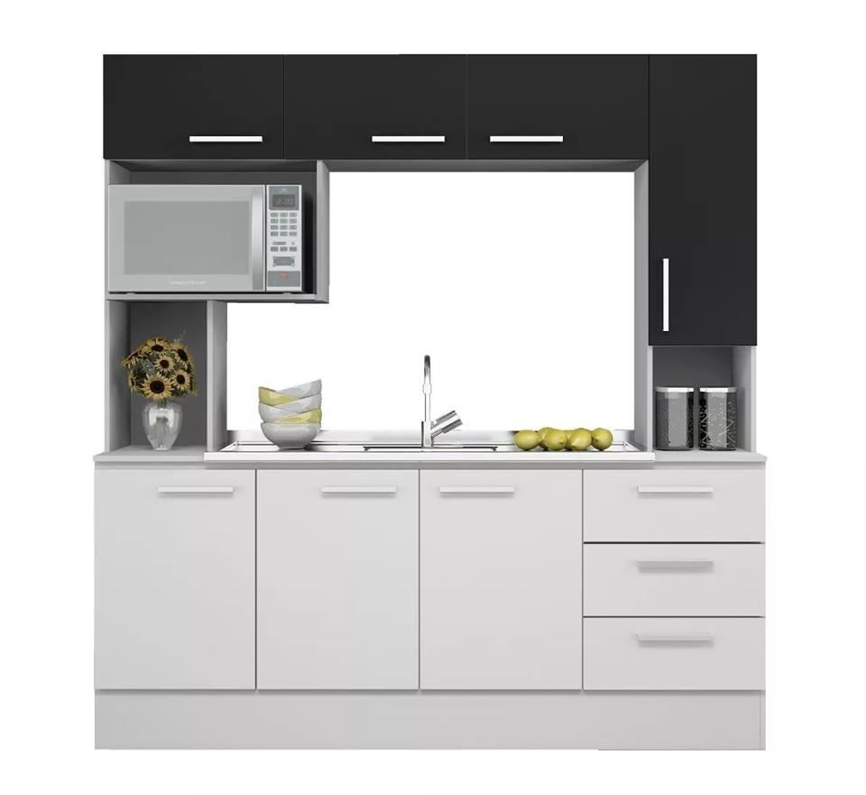 Mueble Kit Cocina Compacta Napoles + Pileta Jokar - $ 7.275,00 en ...