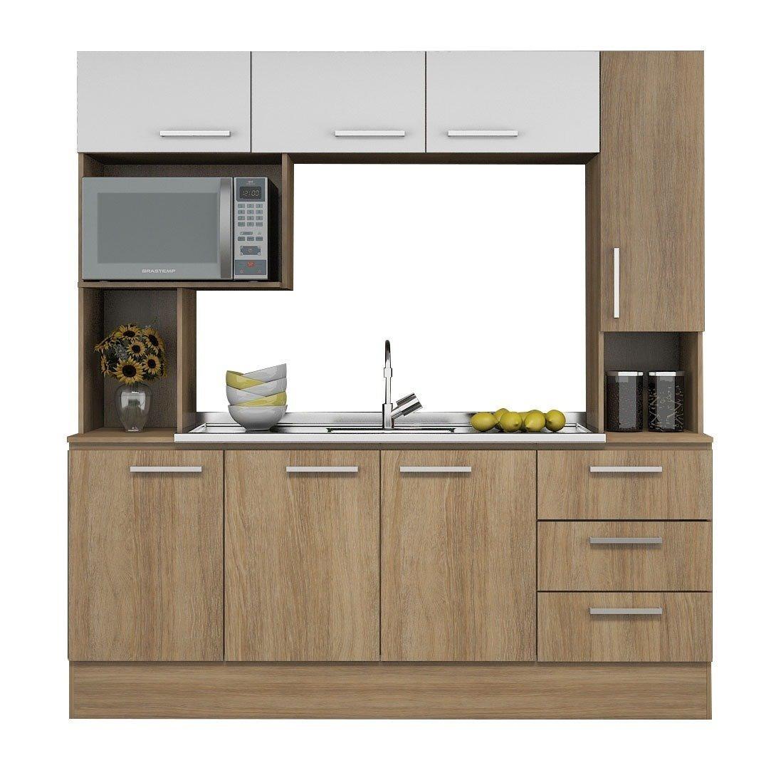 Mueble Kit Cocina Compacta Napoles + Pileta Ventas1002 - $ 7.275,00 ...