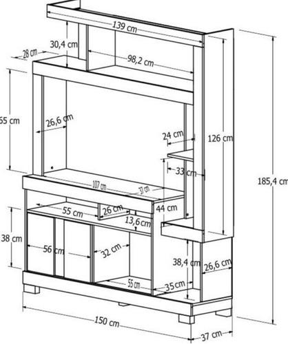mueble living rack