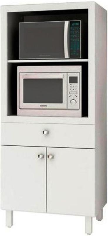 Mueble Multiuso Cocina Para Microondas Horno Cajón Y Puertas