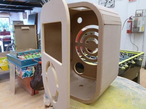 mueble para rockola doble fondo en natural a solo $850