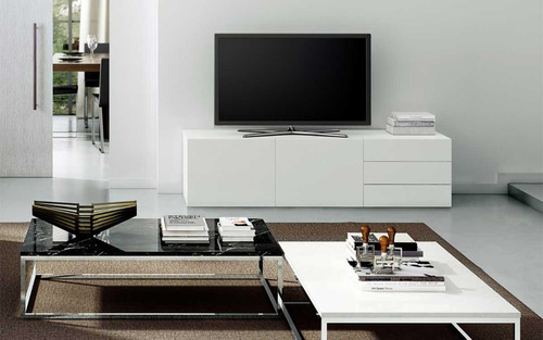 mueble para tv ekipa rack laqueado 100% mdf