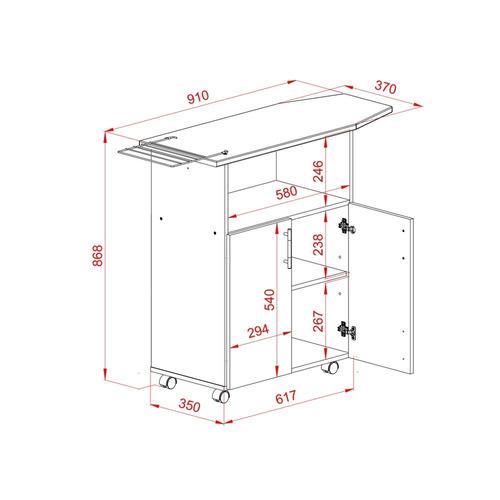 mueble planchador organizador de planchado tabla planchar bl