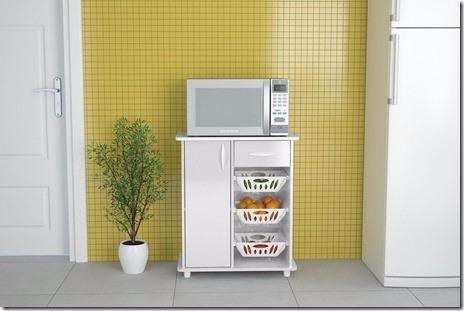 mueble rack para frutas y micro sinop blanco casa oficina