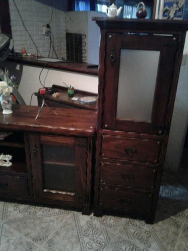 mueble rustico en madera, alacena para cocina o comedor