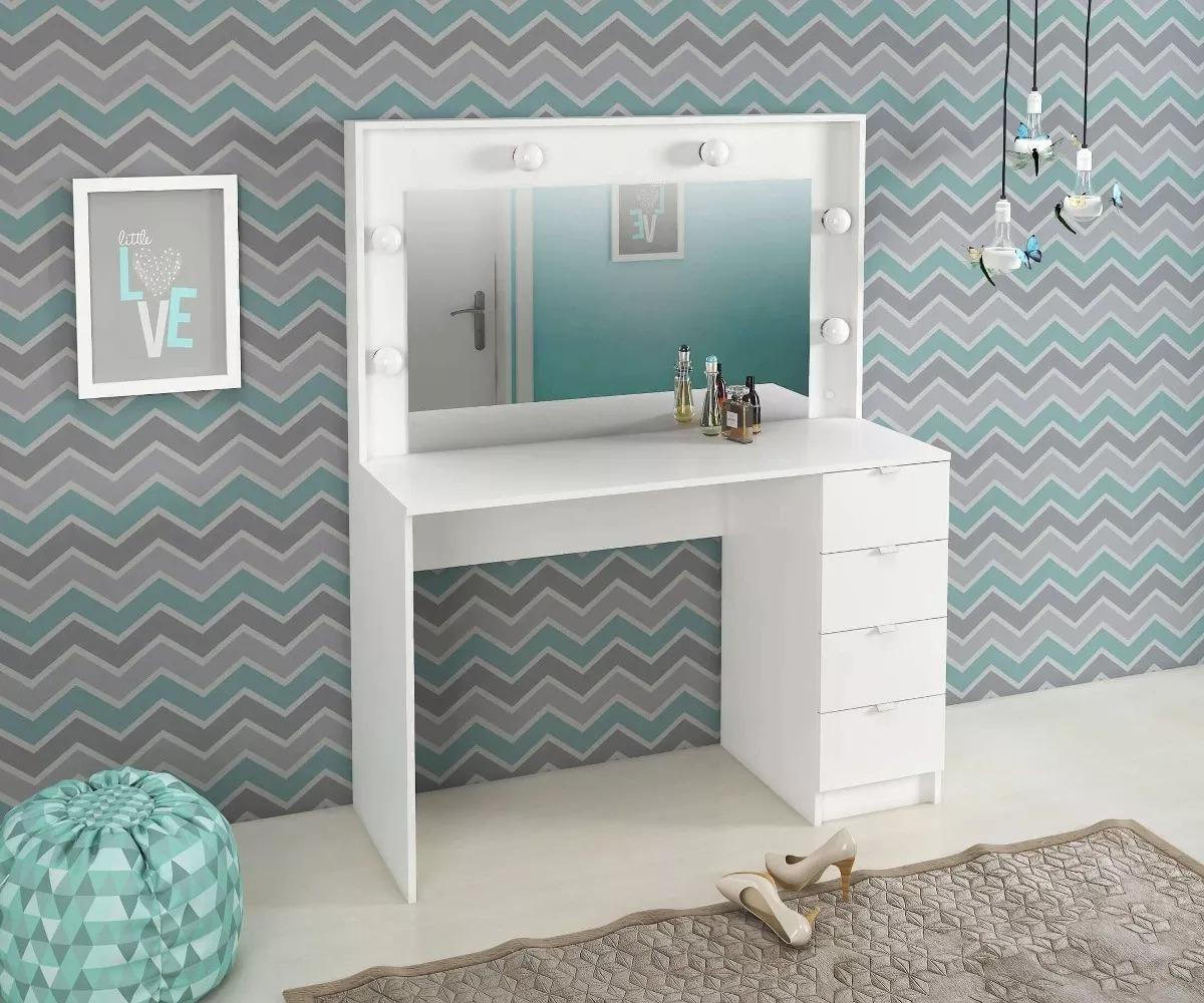 Mueble tocador espejo luces cajones glauben - Tocador con espejo y luces ...