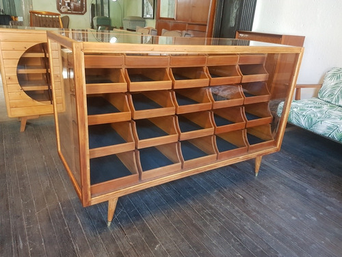 mueble vitrina mostrador de merceria estilo americano retro