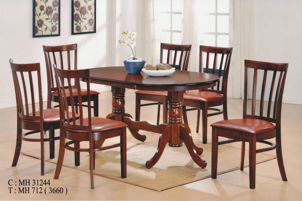 Muebles Comedor Madera Maciza 6 Sillas - $ 19.990,00 en Mercado Libre