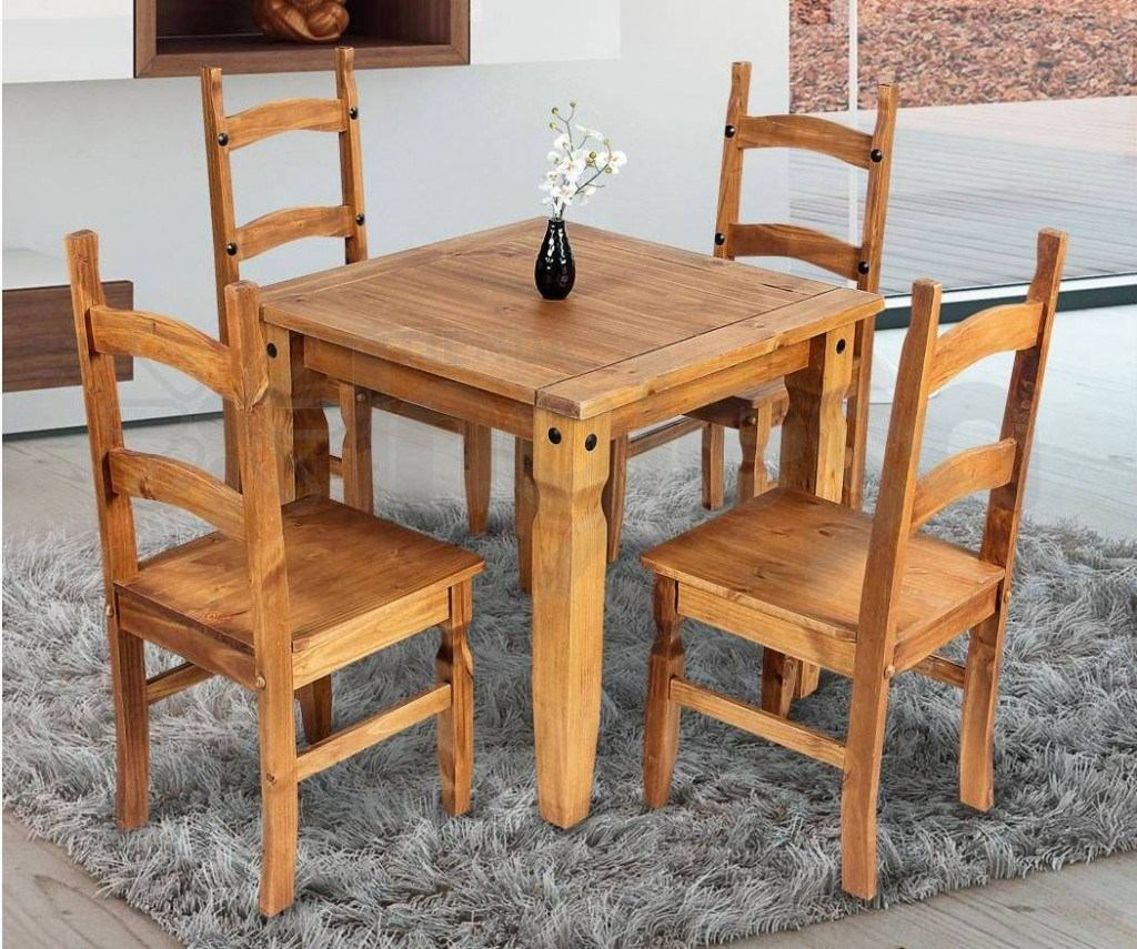Muebles Comedor Madera Maciza Linea Mexicana 4 Sillas - $ 12.990,00 ...