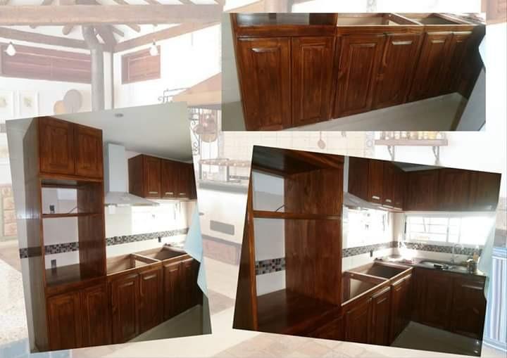 Muebles De Cocina Esquineros Y Mesada Granito Gris O Rosa - $ 17.800 ...