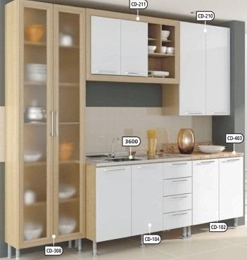 Muebles De Cocina Modulos Prefabricados A Medida - $ 1.360,00 en ...