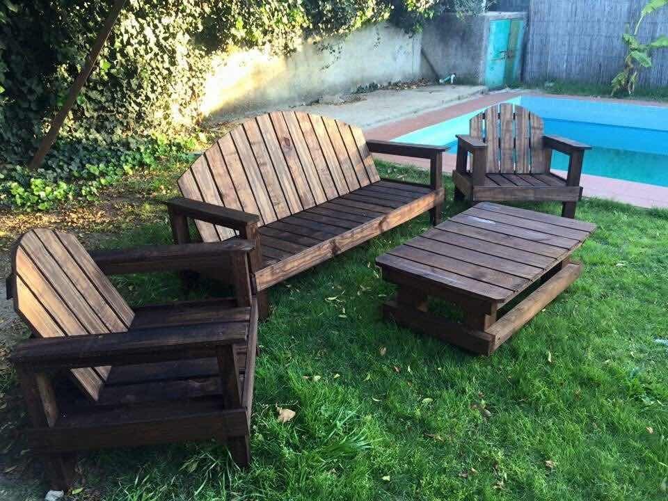 Muebles de jardin r sticos madera tratada en for Muebles de jardin baratos en madera